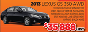 2013 Lexus GS 350 AWD for Sale in Toronto