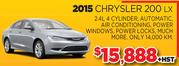 2015 Chrysler 200 LX for Sale in Toronto
