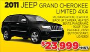 2011 Jeep Grand Cherokee Limited 4X4 Toronto