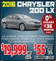 2016 Chrysler 200 LX for Sale in Toronto