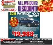 2016 Jeep Patriot 4X4 Sport Toronto