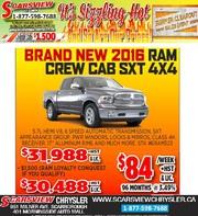 New 2016 Ram Crew Cab SXT 4X4 Toronto