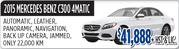 2015 Mercedes Benz C300 4Matic Toronto