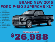 New 2016 Ford F-150 Supercab XLT Toronto