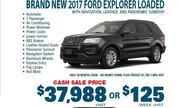 New 2017 Ford Explorer Loaded Toronto
