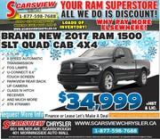 New 2017 Ram 1500 SLT Quad Cab 4X4 Toronto